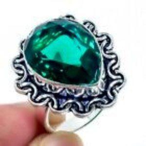 🎉Apatite Gemstone & Silver Ring